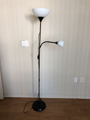 Floor lamp with two lights (bulbs included) for Sale in Seattle, WA