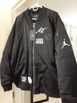 Nike Jordan Sportswear Greatest J-1 Bomber Jacket Black White Av5998-010 Large for Sale in San Diego, CA