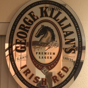 VINTAGE GEORGE KILLIANS IRISH RED BEER OVAL MIRROR 1999 for Sale in Humble, TX