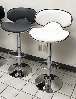 New $35 each Barstool Modern Chair Swivel Adjustable Bar Stool PU Leather (White or Grey) for Sale in Pico Rivera, CA