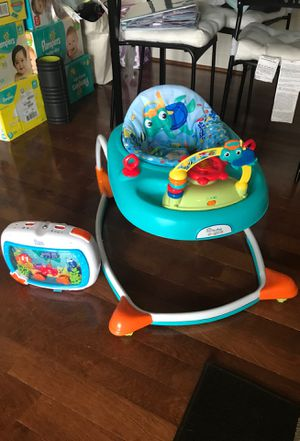 Baby Einstein walker and crib aquarium sleeping soother for Sale in Alexandria, VA