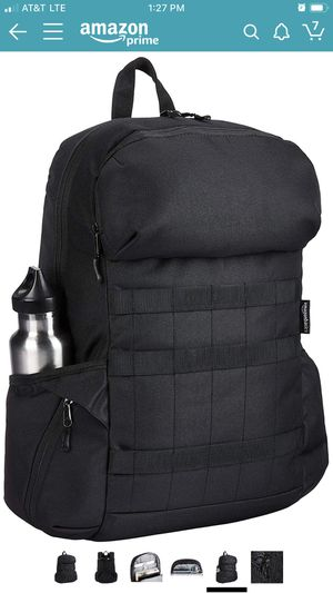 AmazonBasics Canvas Laptop Backpack Bag for up to 15 Inch Laptops - Black for Sale in Los Angeles, CA