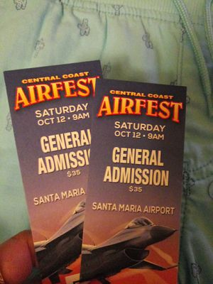 2 Airshow Tickets for Sale in Santa Maria, CA