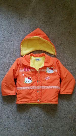 Girl's clothes: Hello Kitty orange jacket/ coat for Sale in Murrieta, CA