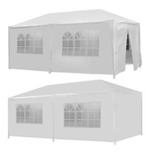 10 X 20 White Party/Event Tent Gazebo Canopy with 6 Removable Sidewalls for Sale in Hialeah, FL