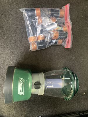 Colman Lantern & Batteries for Sale in Elk Grove Village, IL