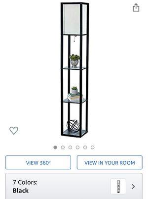 Storage Shelf Linen Shade Floor Lamp for Sale in Atlanta, GA