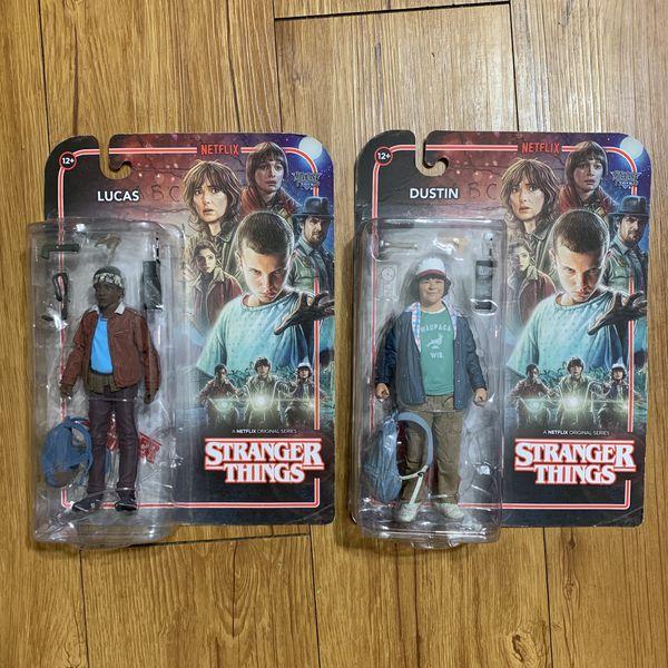 Lot of 2: Stranger Things Dustin & Lucas Action Figures