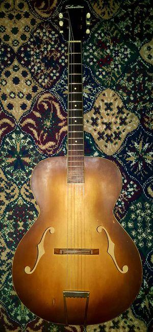 Silvertone 6887 Archtop Acoustic Guitar, Light Brownburst for Sale in Covina, CA