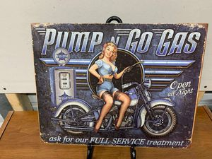 Pump & go gas tin sign for Sale in Lakeland, FL