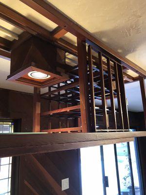Vintage Custom Wooden Ceiling Wine Rack for Sale in Los Angeles, CA