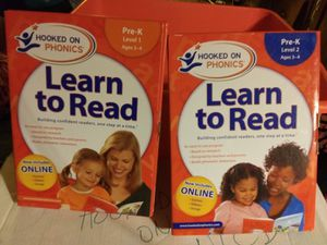 Hooked on Phonics,Pre-K,Level 1&2 for Sale in Graham, WA