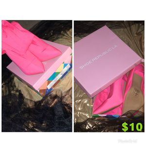 Neon Pink over the knee heels for Sale in Columbus, OH