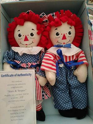Stars & Stripes Raggedy Ann and Andy set new! for Sale in Grandville, MI