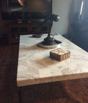 Marble and chrome coffee table for Sale in Pensacola, FL