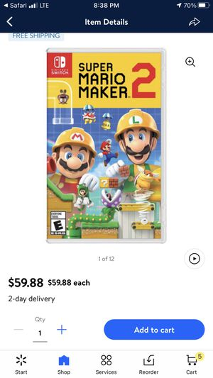 Super Mario maker 2 for Sale in Las Vegas, NV