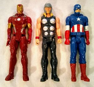"Marvel 12"" Iron Man, Thor & Captain America for Sale in Bonney Lake, WA"