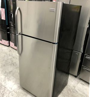 CLEARANCE! Frigidaire 18 cuft Top Freezer Refrigerator - Stainless Ste for Sale in San Jose, CA
