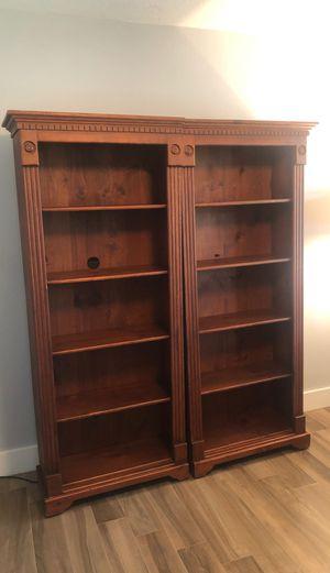 2 Wood Bookshelves for Sale in Hialeah, FL