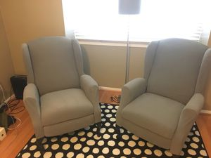 Wing-back recliner chairs for Sale in Oakton, VA
