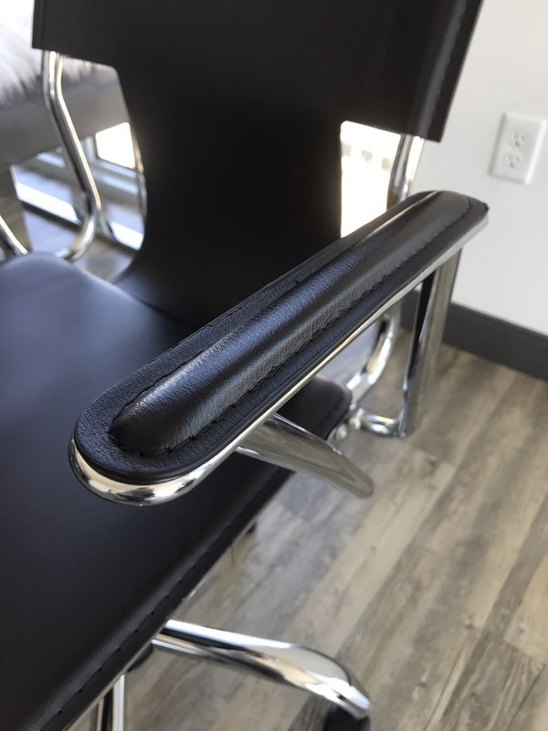 Dark Brown Vinyl Swivel Office Chair
