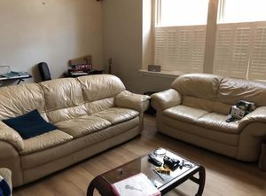 Natuzzi Leather couch and love seat for Sale in Dallas, TX