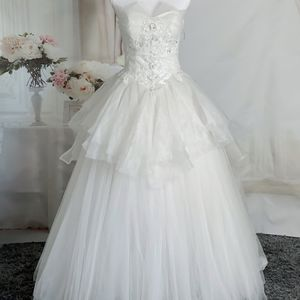 Ivory Strapless Ruffles Wedding Dress/Quinceanera&Sweet 16 Dress for Sale in Fort Lauderdale, FL