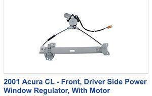 2001 Acura CL Driver side window regulator for Sale in Rialto, CA