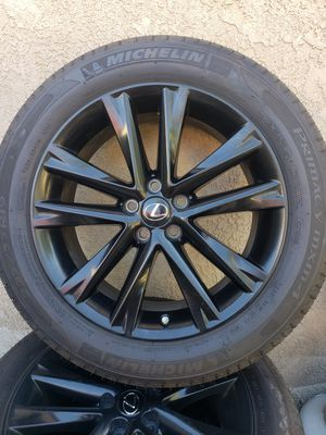 """Lexus RX350 19"""" Black Wheels with Tires and TPMS set of 4 for Sale in Moreno Valley, CA"""