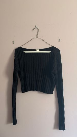 black cropped ribbed sweater for Sale in Teaneck, NJ