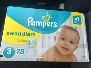 Pampers size 3 for Sale in Fresno, CA
