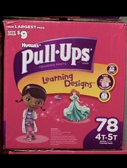 4t-5t Huggies Pull-ups 78 count for Sale in Norristown,  PA