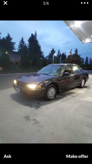 1992 Honda accord tittle in hand tabs good till end of October for Sale in Enumclaw, WA
