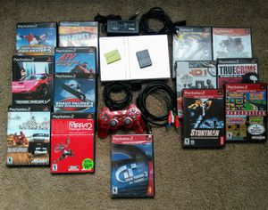 Sony PlayStation 2 Slim Silver Console - 14 Games, Memory Card and Controller PS2 for Sale in Renton, WA
