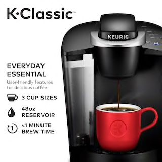 Comes with kcup holder and Columbia's coffee kcups 40 pack