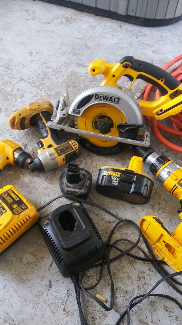 Dewalt 18 volt battery powered tools