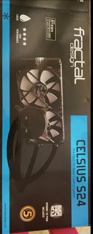 Fractal design Celcius s24 CPU water cooling system for Sale in Katy, TX