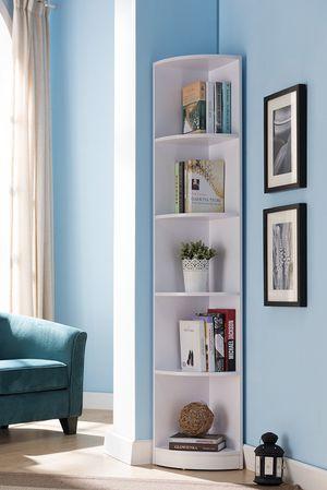 Chole Corner Bookcase, White for Sale in Santa Ana, CA
