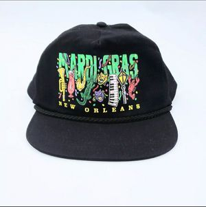 Vintage Mardi Gras New Orleans Trucker Snapback Mesh Hat Cap Hipster Retro 80s for Sale in Bartow, FL