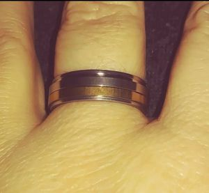Silver and Gold Plated Band Style Ring Size 8 for Sale in Pico Rivera, CA