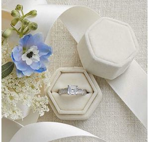 Ivory Velvet Ring Box for Sale in Tampa, FL