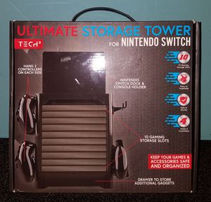 Nintendo Switch Ultimate Storage Tower Tech 2 Video Game Console Controller Games & Accessories Drawer for Sale in Tampa, FL