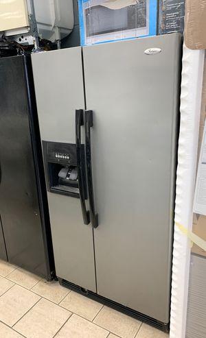Whirlpool stainless steel side by side refrigerator for Sale in Dearborn, MI
