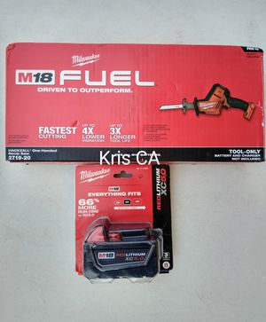 Milwaukee fuel hackzall and 5.0 battery for Sale in La Puente, CA