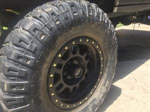 One set of Jeep wheels & tires for Sale in Temecula, CA