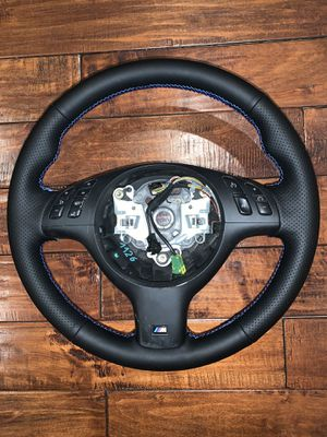 BMW e46 e39 m3 m5 Steering Wheel New Leather 330i 328i 325i 525i 528i 530i for Sale in Coral Springs, FL