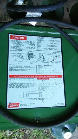 Colman Camping Heater for Sale in Cranston, RI