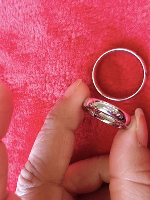 New Stainless Steel Couple Ring Wedding Rings Men Women Ring Sets Romantic Heart Lover Ring men size 10 women size 7 for Sale in Moreno Valley, CA