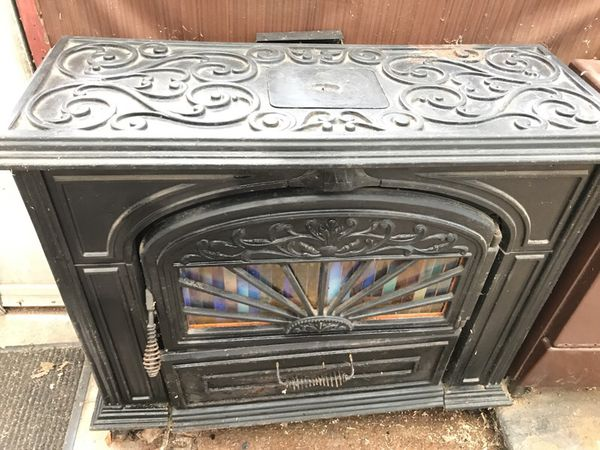 Franco Belge Coal Stove With Over Half Ton Of Pea Coal For Sale In