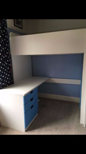 Stuva desk with blue drawers (bed not included) for Sale in Upper Marlboro, MD
